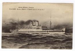Marine Militaire Française Flandre Navire-Hôpital (Guerre 1914-15-16-17-18) - Guerre 1914-18