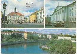Tartu / Tapty - Raekoja Plats, Tartu Riiklik ülikool, Emajögi  - (Estland) - Estland