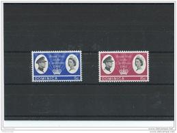 DOMINIQUE 1966 - YT N° 188/189 NEUF SANS CHARNIERE ** (MNH) GOMME D'ORIGINE LUXE - Dominique (1978-...)