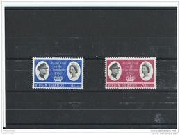 VIERGES 1966 - YT N° 165/166  NEUF SANS CHARNIERE ** (MNH) GOMME D'ORIGINE LUXE - Iles Vièrges Britanniques