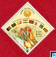 Sri Lanka Stamps 2008, SAARC Summit - Colombo, Flags, MNH - Sri Lanka (Ceylon) (1948-...)