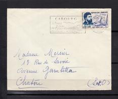 Georges BIZET    0,30+0,10  Timbre  SEUL Sur LETTRE Annee 1960 De CABOURG Calvados  Pour CHATOU S.et.O. - Marcophilie (Lettres)