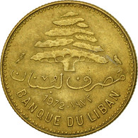 Monnaie, Lebanon, 5 Piastres, 1972, TTB, Nickel-brass, KM:25.2 - Lebanon
