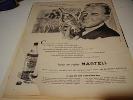 ANCIENNE PUBLICITE BUVEZ UN   COGNAC MARTELL 1958 - Alcools