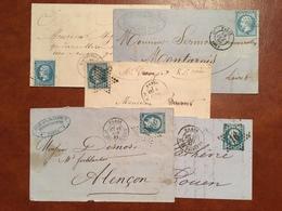 France - Lot De 5 Lettres (n°22) OBL ETOILE DE PARIS - (B1136) - Poststempel (Briefe)