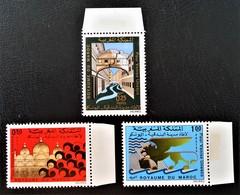 SAUVEGARDE DE VENISE 1972 - NEUFS ** - YT 631/33 - MI 697/99 - BORDS DE FEUILLES - Morocco (1956-...)