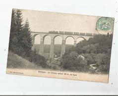 XERTIGNY (VOSGES) LE VIADUC ACTUEL 38 M DE HAUT (TRAIN CIRCULANT) 1906 - Xertigny