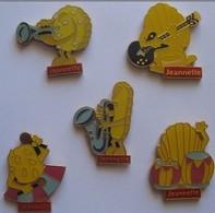 """Jeannette - Les 5 Pin's """" Musiciens"""" - Badges"""