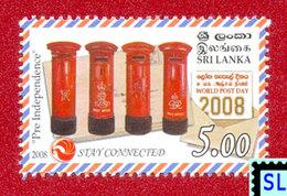 Sri Lanka Stamps, World Post Day 2008, Post Box, MNH - Post