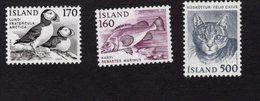 673724575 ICELAND 1982 POSTFRIS MINT NEVER HINGED POSTFRISCH EINWANDFREI SCOTT 556 557 558 BIRD FISH CAT - 1944-... Republique
