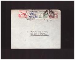 CILE - FEBBRAIO 1961 BUSTA (FDC?) CON 4 VALORI POSTA AEREA - VIAGGIATA USA - Cile