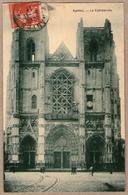 44 / NANTES - Façade De La Cathédrale En Travaux, échafaudage (tampon 1911) - Nantes