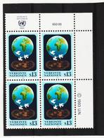 RAN164 VEREINTE NATIONEN UNO WIEN 1993 Michl 149 ECKRAND-VIERERBLOCK ** Postfrisch SIEHE ABBILDUNG - Wien - Internationales Zentrum
