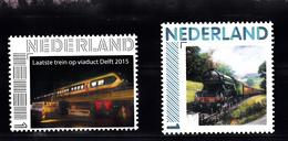 Trein, Train, Locomotive, Eisenbahn Nederland Laatste Trein Op Viaduct Delft + Oude Loc - Treinen