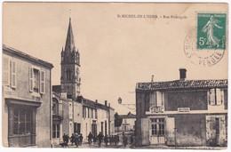 "CPA - 85 - VENDEE - SAINT MICHEL EN L'HERM "" Rue Principale "" - Saint Michel En L'Herm"