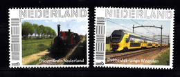 Trein, Train, Locomotive, Eisenbahn Nederland Stoomtrein + Dubbeldekker NS - Treinen