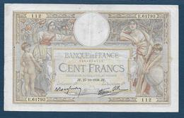 France - 100 F  L.O. Merson  Du  27 - 10 - 1938 - 1871-1952 Anciens Francs Circulés Au XXème