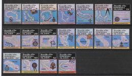 MARSHALL - SERIE COURANTE 1984/1986 (CARTES) - YVERT N° 45/50+63/66+109/110 ** MNH - COTE = 41 EUR. - Marshall