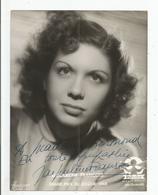 JACQUELINE FRANCOIS PHOTO STUDIO HARCOURT SIGNEE - Autographes