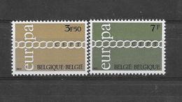 België 1971 Y&T  Nr 1578/ 1579  (**) - Belgium