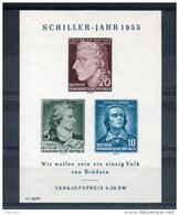 RDA. Bloc Feuillet. Schiller - [6] République Démocratique