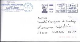 """02.AISNE.OMEC NEOPOST NAC """"LA POSTE 23622A / 23.12.08"""" BM  (SOISSONS) - Annullamenti Meccanici (pubblicitari)"""
