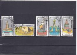 Mongolie Oblitéré 1990  N° 1773/1777     Les Sept Merveilles Du Monde - Mongolie