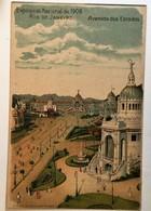 AK  BRAZILL RIO DE JANEIRO   LITHO    EXPOSICAO NACIONAL DE 1908. - Rio De Janeiro