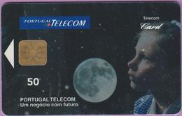 Télécarte °° Portugal - 50 - Enfant Lune - Um Negocio Com Futuro - SA2 - V 7158 - Portugal