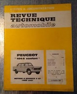 PEUGEOT 404 RARE REVUE TECHNIQUE AUTOMOBILE   BON ETAT ANNEE 1968 - Auto/Moto
