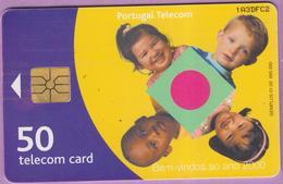 Télécarte °° Portugal - 50 - Enfants - Bem Vindos Ao Ano 2000 - Gem - V DFC2 - Portugal