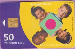 Télécarte °° Portugal - 50 - Enfants - Bem Vindos Ao Ano 2000 - Gem - V F49B - Portugal