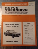 MERCEDES-BENZ RARE REVUE TECHNIQUE AUTOMOBILE BON ETAT ANNEE 1973 - Auto/Moto