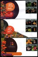 COLOMBIA- KOLUMBIEN- 2018 FDC/SPD. COLOMBIAN ORCHIDS - SET X 5 COVERS. - Colombia