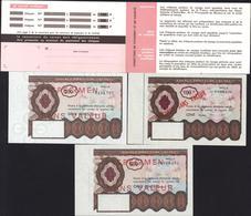 Chèque Postal Chèques Postaux Voyage Spécimen Sans Valeur 100 200 500 Frs Pochette Stockage - Chèques & Chèques De Voyage