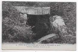 CPA 91 ( JANVILLE SUR JUINE ) DOLMEN DE LA PIERRE LEVEE PRES DE LA FERME DE POCANCY - France