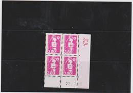 FRANCE MARIANNE DE BRIAT 1 COIN DATE CD2624 (4t 3,80 Rose)  Date 22.02.90 - Esquina Con Fecha