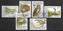 OUZBEKISTAN    -   1993 .   Y&T N° 7 à 10  &  12 à 13 Oblitérés.   Animaux Divers. - Ouzbékistan