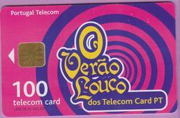 Télécarte °° Portugal - 100 - O Verão Louco Rose - LG1 - RV 4175 °° TBÉ - Portugal