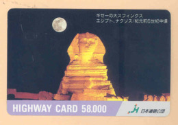 JAPAN Prepaidkarte - Ägypten - Siehe Scan - 4330 - Landschaften