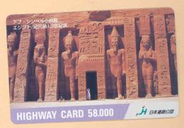 JAPAN Prepaidkarte - Ägypten - Siehe Scan - 4332 - Paysages