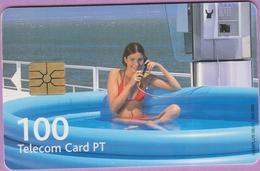 Télécarte °° Portugal - 100 - Para Ganhar Femme Tél Piscine - RV 0E76 - Portugal