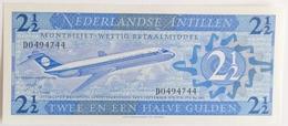 Netherlands Antilles 2½ Gulden 1970, UNC, World Paper Money P-21a - Antilles Néerlandaises (...-1986)