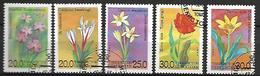 OUZBEKISTAN    -   1993 .   Y&T N° 30 à 32  &  34 à 35 Oblitérés.   Fleurs.  Tulipes  /  Crocus ... - Ouzbékistan