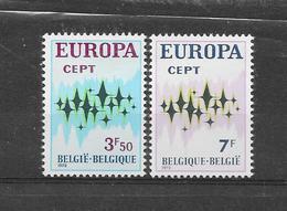 België 1972 Y&T  Nr 1623/1624 (**) - Belgium
