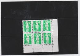 FRANCE MARIANNE DE BRIAT 1 COIN DATE CD2820 (6 T 2,40 F) 06.08.93 - Esquina Con Fecha