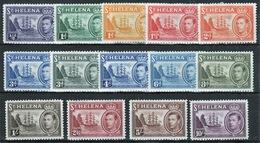 St Helena 1938 King George VI Full Set Of Definitives. - Saint Helena Island