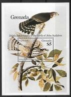 "GRENADA 1985 Birds ""John James Audubon, 200th Anniversary Of The Birth"", PIGEON HAWK, Falco Columbarius - Águilas & Aves De Presa"