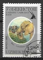 OUZBEKISTAN    -   1995 .   Y&T N° 61G  Oblitéré .  Elephant - Ouzbékistan