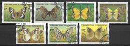 OUZBEKISTAN    -   1995 .   Y&T N° 61H à 61P  Oblitérés .  Papillons.  Série Complète. - Ouzbékistan